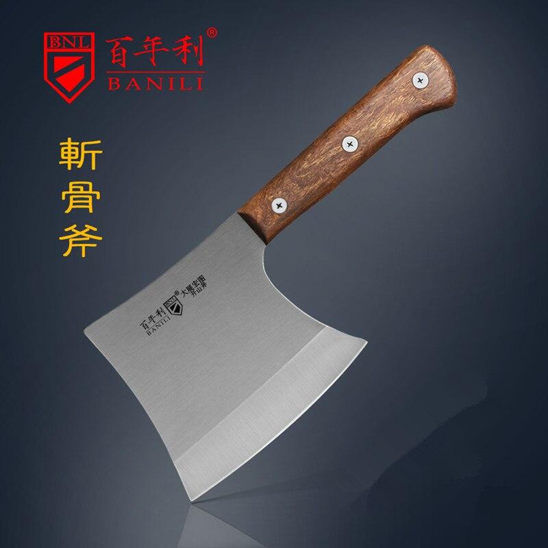 BNL Forged Household Chop Big Bone Axe Chef Strong Chopper Butcher Ridge Knife Tool Outdoor Cut