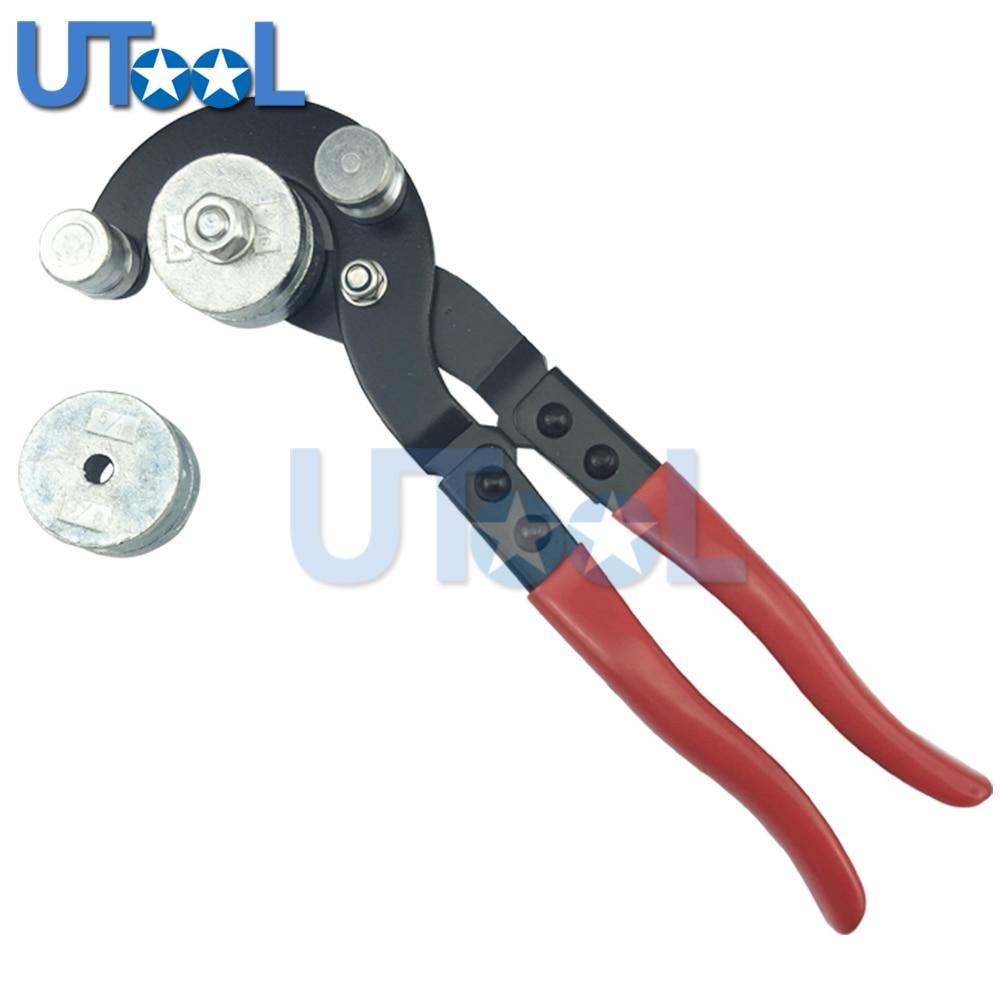 UTOOL Plier Type Fuel Brake Pipe Bender Tool 3 16 1 4 5 16 and 3