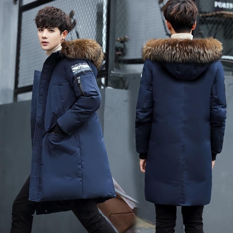 Big Fur Collar Men Parkas Hooded Thicken Winter Coat Warm Fashion Male Outwear Medium Long Slim Jackets Thermal Clothing SY0047 крестор 10 мг n98 табл