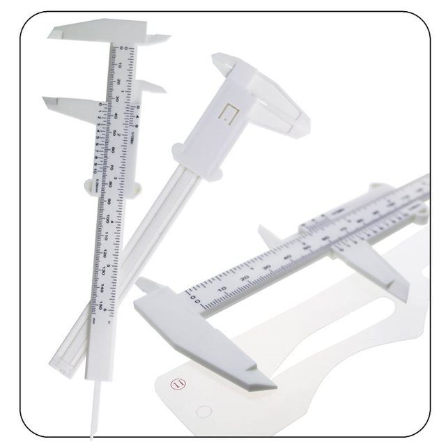 Double Scale Sliding Gauge Eyebrow Ruler Tattoo Permanent Makeup Eyebrow Tattoo Measuring Ruler Caliper Measure Tools 1pcs 4