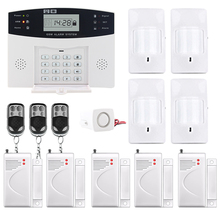 Saful LCD Display hot sale Wireless GSM&Home Security Alarm System SMS and Smoke Sensor Russian/English/Spanish/French voice smartyiba hot wifi gsm home security alarm system remote control english russian spanish german french polish door sensor