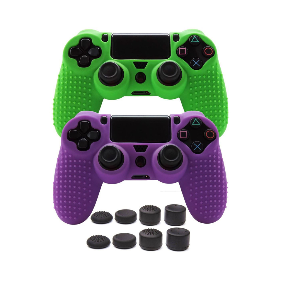 все цены на Anti-slip Silicone Skin Cover Case for Sony PlayStation Dualshock 4 Gamepad Case for PS4 PS4 Pro Slim Controller онлайн