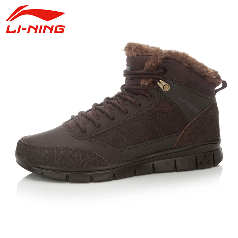 LI-NING Brand New Arrival FlyingIII Outdoor Sports Series High-top Walking Shoes Winter Warm Sneakers For Male AHCK015 XYD067 li ning new arrival skateboard boot height increasing winter high top sport shoes sneakers walking shoes men alak049 xmr1159