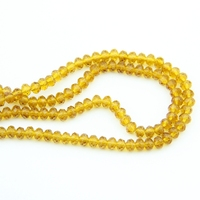 4X6/6X8mm 720 3600pcs Faced Glass Amber Crystal Rondelles Beads China Craft Material For Home Decoration Wholesale