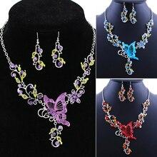 Nádherný motýlí set – náušnice a řetízek (více barev)