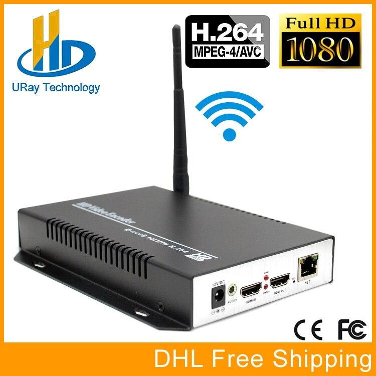 Encodeur WIFI URay MPEG4 AVC/H.264 IPTV matériel HDMI vers RTSP HTTP RTMP IP Streaming sans fil pour serveur multimédia en direct et en Streaming