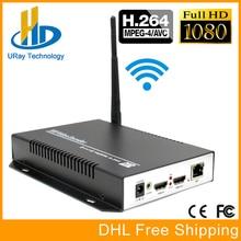 URay MPEG4 AVC/H.264 Hardware Codificador IPTV WI-FI HDMI Para HTTP RTMP RTSP Streaming de IP Sem Fio Para Viver, Streaming Media Server