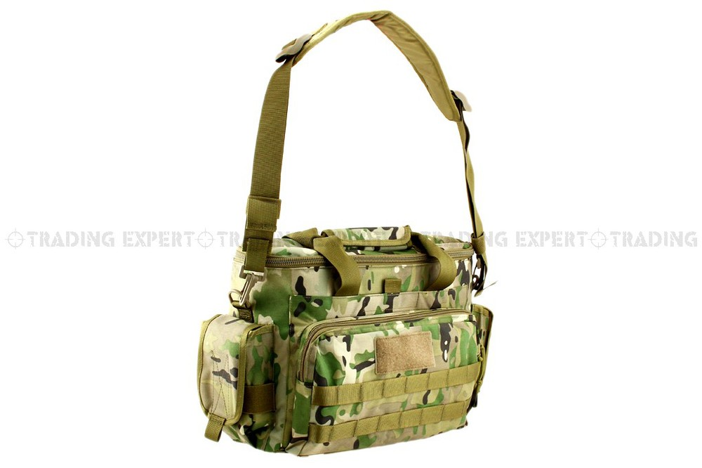 Competent Outdoor Military Tactical 500d Postman Multifuntional Ipad Notebook Bag Bd5810 multicam