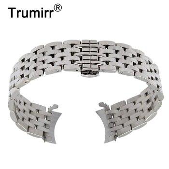 Curvo Fim de Aço Inoxidável Watch Band + Ferramenta para Jacques Lemans Frederique Constant Oriente Faixa de Relógio de Pulso Strap 18mm 20mm 22mm