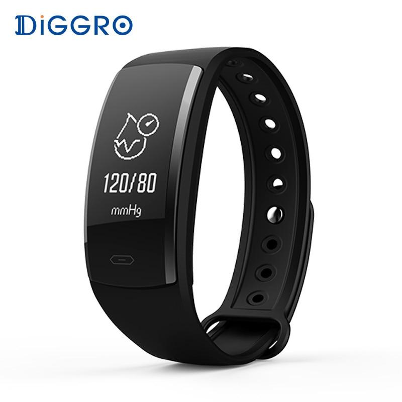 купить Diggro QS90 Blood Pressure Smart Bracelet Heart Rate Monitor Blood Oxygen Monitor IP67 Fitness Tracker for Andriod IOS VS QS80 по цене 1211.72 рублей