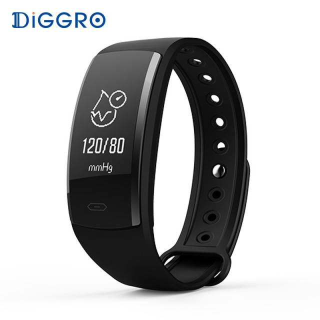 Diggro Qs90 Blood Pressure Smart Bracelet Heart Rate Monitor Oxygen Ip67 Fitness Tracker For
