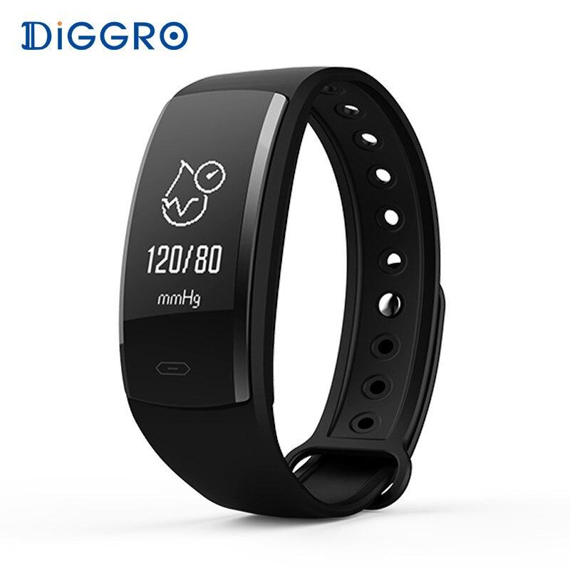 Diggro QS90 sangre presión pulsera inteligente Monitor de frecuencia cardíaca sangre oxígeno Monitor IP67 Fitness Tracker para Android IOS del QS80