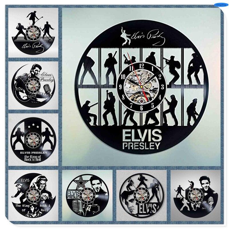 Moderne Elvis Presley Disque Vinyle DIY Conception 3d Art Miroir Horloge  Murale Disque Vinyle Horloge Murale Art Décor À La Maison b672b3278d5