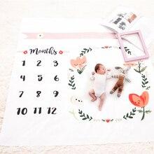 Детские Одеяла пеленать Обёрточная бумага новорожденных Мода купальный Полотенца с цветочным принтом милые мягкие Одеяло DIY младенческой Дети Подставки для фотографий