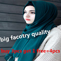 33 cores de alta qualidade grosso bolha simples chiffon cor sólida xale bandana hijab lenço islâmico hijab muçulmano/lenços