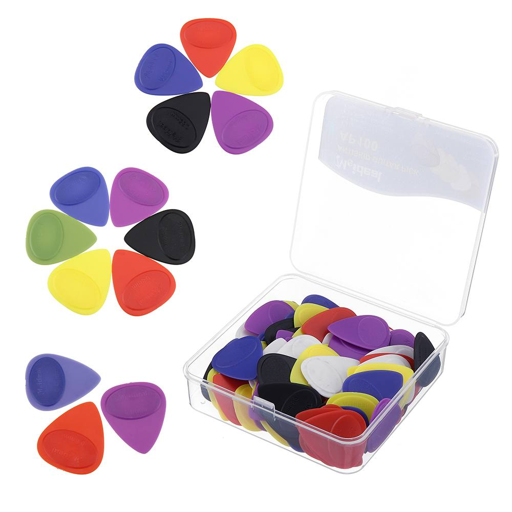 2019 100 Pcs 0.46 0.55 0.6mm Non slip Matte Guitar Picks Compression Resistant Wear Paddle Folk Ukulele Pick Guitar Accessories image