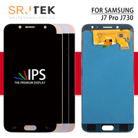 Srjtek For SAMSUNG Galaxy J730 LCD J7 Pro J730 Display Touch Digitizer Sensor Frame J730F LCD J7 2017 J730F Display Glass Screen