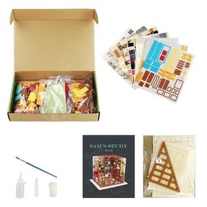 Image 5 - Robotime لتقوم بها بنفسك دمية سام غرفة الدراسة الخشب مصغرة نموذج مجموعات الديكور هدية عيد ميلاد للفتيات