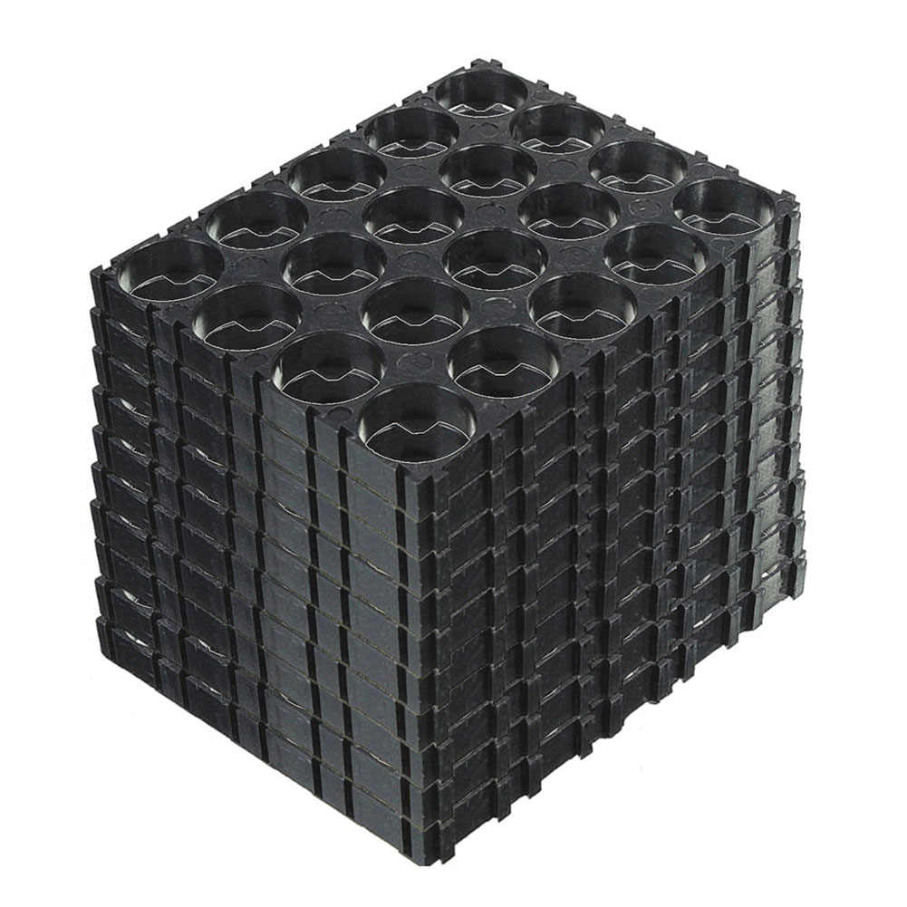 High Quality 20/30/40/50 Pcs 4x5 Cell 18650 Batteries Spacer Holders Radiating Shell Plastic Bracket