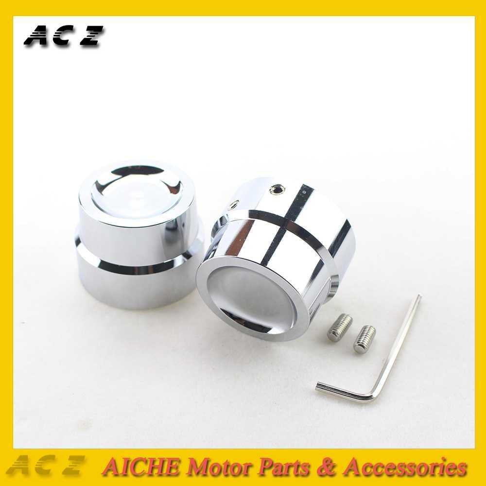 ACZ オートバイフロント CNC アルミラフ工芸品車軸キャップナットハーレースポーツスター XL 883 1200 グライド CVO 道路王超