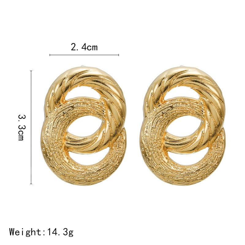 Big Vintage Earrings for Women Gold Silver Geometric Statement Earrings 19 Metal Earring Hanging Fashion Jewelry 6