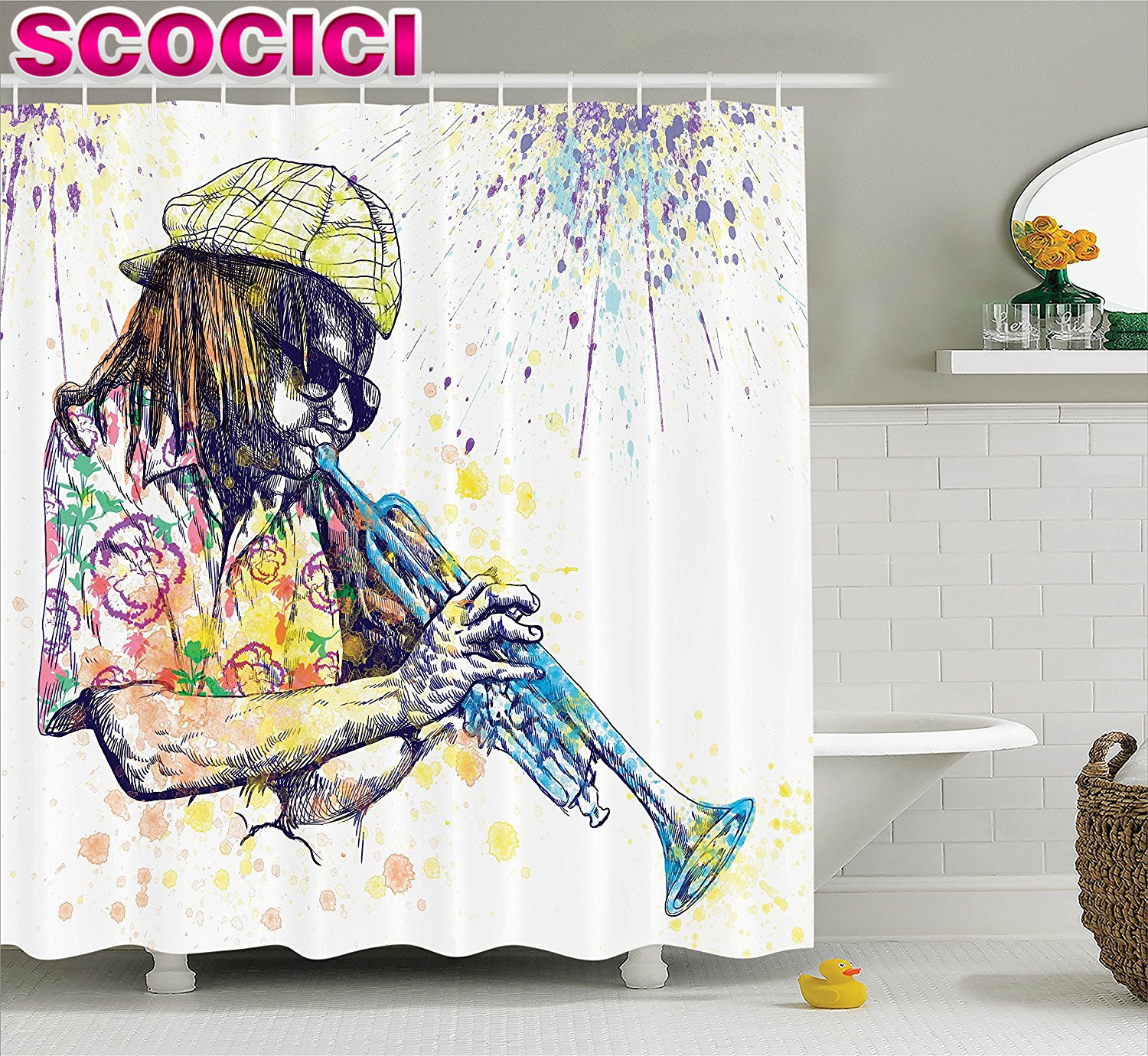 Generous Jazz Shower Curtain Pictures Inspiration - Bathtub for ...
