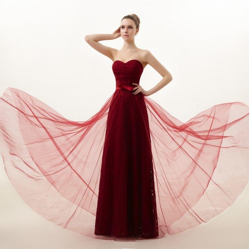 2014 nueva novia de la boda vestido de encaje de noche largo vestido ...
