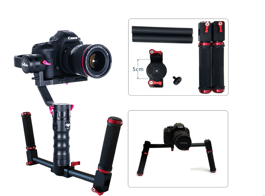 Beholder DS1 Free EMS DHL Free Battery Charger 3-Axis Handhled Gimbal Stabilzier Support Canon 5D 6D 7D DSLR MS1 Nebula 4200 used in good condition 1747 pic with free dhl ems