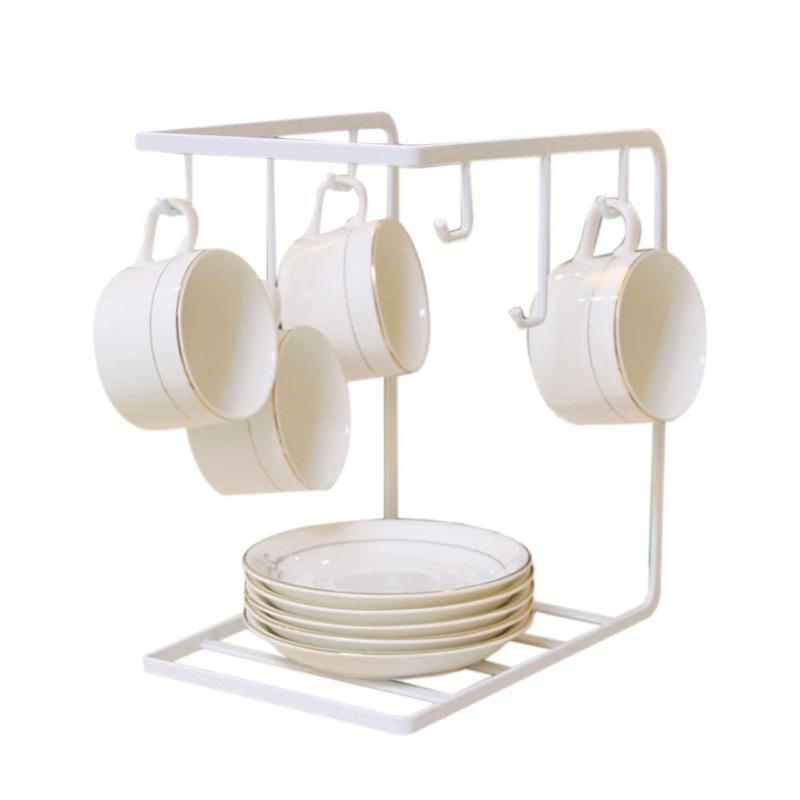 1 STÜCK Kreative Malerei Kaffeetasse Halter Haushalt Küche Eisen Tasse  Lagerung Regal Rack Poratbale Geschirr Moderne Haushalt Küche