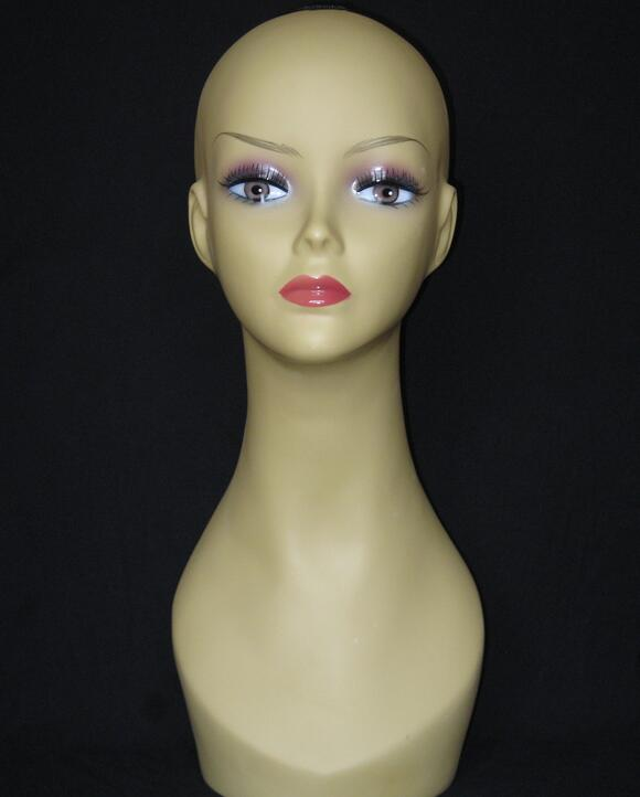 New Female head mannequin for hat hair head stand,jewelry mannequin tete a coiffer pour  ...