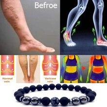 Магнитный ножной браслет, цветной камень, 8 потерь, магнитная терапия, продукт для похудения, уход за здоровьем, ювелирные изделия