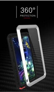 Image 4 - ل LG V50 الحب مي العلامة التجارية حقيبة لجهاز LG V50 ThinQ مكافحة طرقت معدن الألومنيوم وعرة مع شحن المقسى طبقة غوريلا جلاس حالة غطاء