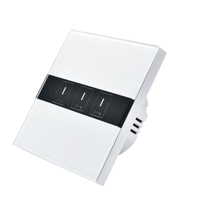 Smart Switch 3 Gang Wireless Remote Control Light Timer Switches Glass Panel Press Wall Switch App
