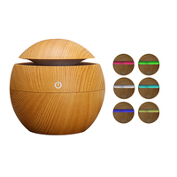 Mini Wooden Aromatherapy Humidifier Aroma Diffuser Essential Oil Diffuser Air Purifier Color Changing LED Touch Switch