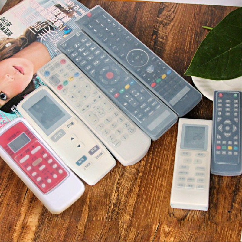 1PC Silicone TV Remote Control Cover Case Video Audio TV Air Condition Protector Waterproof Anti-Dust Protective Cover