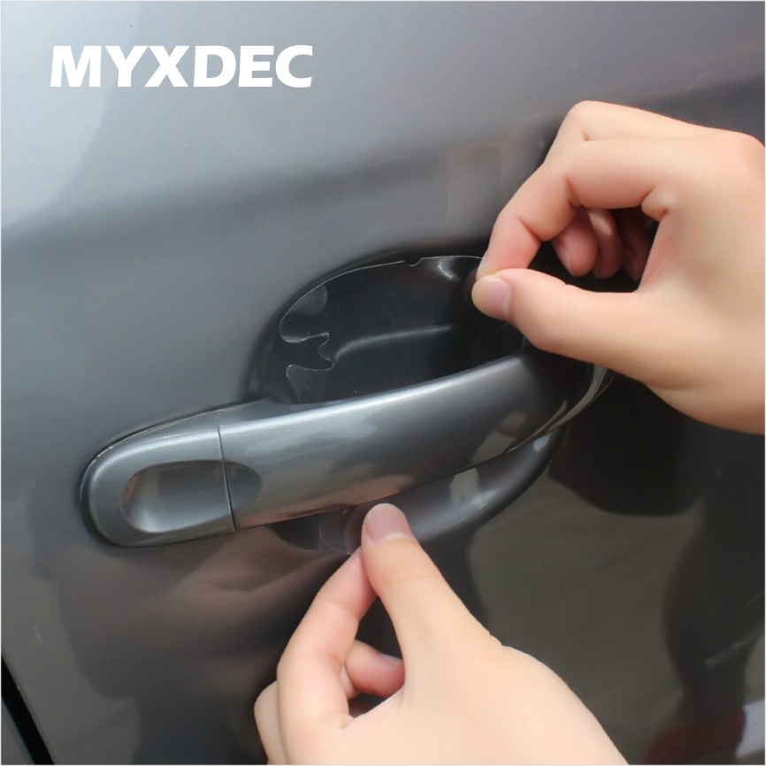 8pcs Universal Invisible Car Door Handle Scratches Automobile Shakes Protective Vinyl Protector Films Car Handle Protection 1