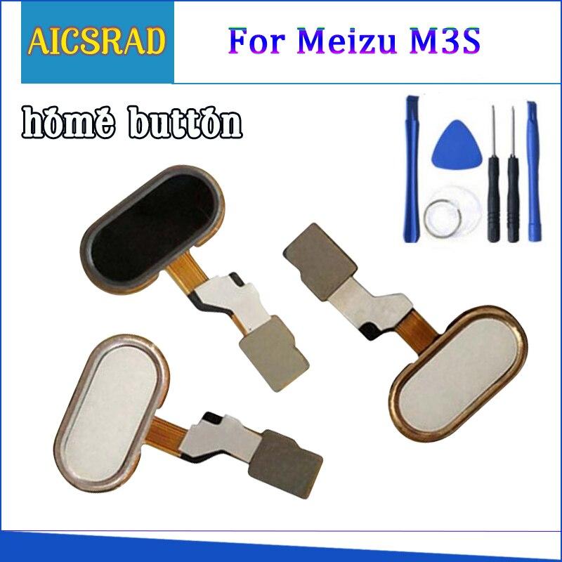 Fingerprint Touch ID Sensor Flex Cable M3S M3 S Y685H For Meizu Home Button Key Replacement Black White Golden