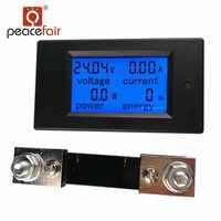 PEACEFAIR DC Digital Panel Voltmeter Ampere Meter 6.5-100V 100A 4 IN1 LCD Power Energy Current Meter PZEM-051 With 100A Shunt