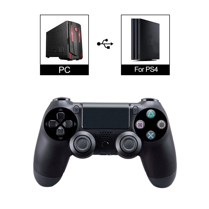 Doppel Shock USB Wired Controller Für PS4 Joystick Fit Für PC 2,2 mt Kabel Für PS4/PS3 Konsole Für playstation Dualshock 4 Gamepad