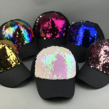 цена Baseball Hip Hop cap Sequins Fashion Adjustable Mommy&Me Summer Hat Girls cap Bone Hat snapback men caps Mesh Sun Cap Cool hat