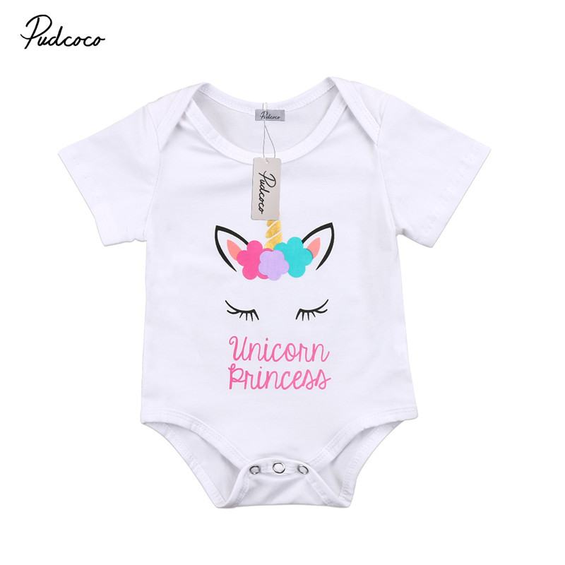 Baby Girl Boy Clothes Unicorn Fantasy Bodysuit Romper Jumpsuit Outfits Baby One Piece Long Sleeve