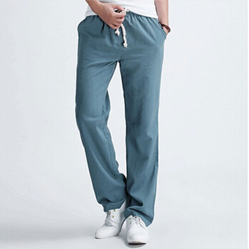 White Linen Trousers for Men Promotion-Shop for Promotional White ...