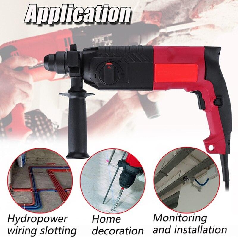 Mayitr 620 W marteau perforateur électrique inviolable sans fil électroperceuse marteau perforateur + 2 tête de forage de haute qualité