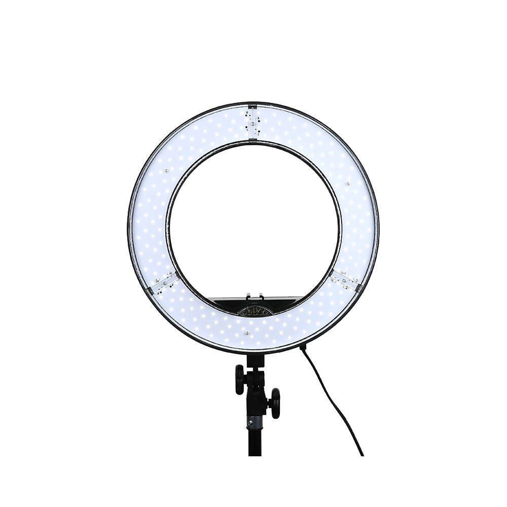 Prix pour 36 W Numérique Photographique Studio Anneau Lumière 5500 K Avec 180 Perles LED Caméra Photo Dimmable LED éclairage Avec Sac
