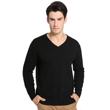 New 2016 Spring and Autumn V-neck solid men sweater brand cashmere leisure knit large size S-2XL male jumper free shipping