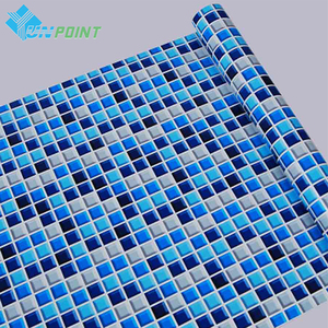 45cmX5m Self adhesive Mosaic PVC Vinyl Wall Stickers Waterproof Wallpapers for Bathroom Kitchen Poster Wall Decals Home Decor