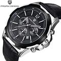 Pagani design de moda dos homens do cronógrafo esportes relógios homens de luxo da marca big dial quartz watch relogio masculino 2016 relógio dos homens