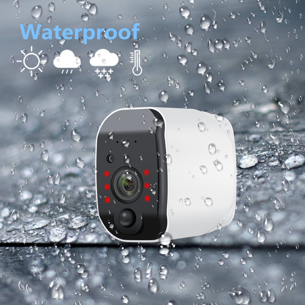 Outdoor IP Camera 1080p HD Battery WiFi Wireless Surveillance Camera 2.0MP Home Security Waterproof PIR Alarm Audio Low Power