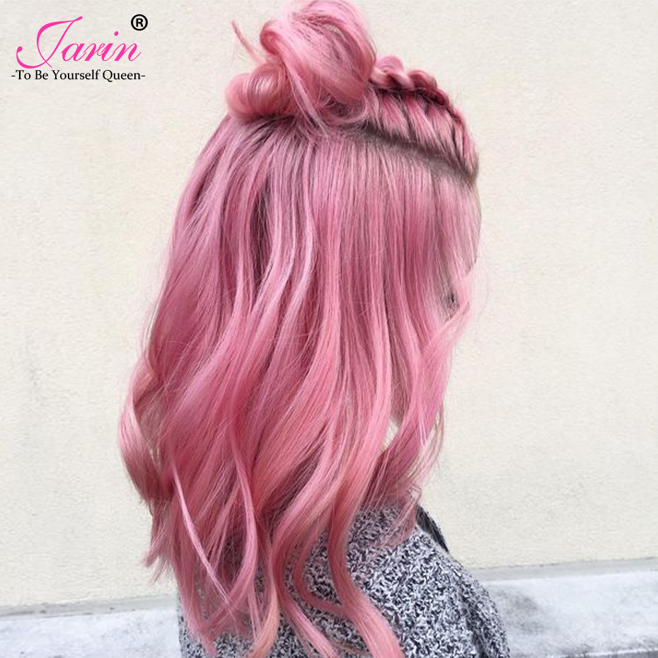 Jarin Ombre Pink Malaysian Body Wave Hair 1 Bundle 100% Human Hair Weaving Two Tone Color Fashion 2018 Free Shipping Can Buy 3/4