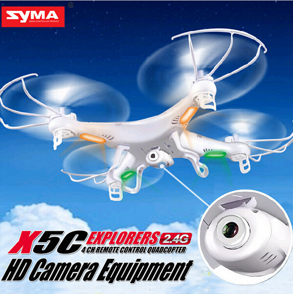 Cheapest Price! Hot Selling Syma X5C X5C-1 2.4G RC Helicopter 6-Axis Quadcopter Drone With Camera VS X5 No Camera free shipping cheapest price hot selling syma x5c x5c 1 2 4g rc helicopter 6 axis quadcopter drone with camera vs x5 no camera free shipping